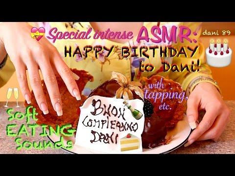 🎉 HAPPY BIRTHDAY Dani! 🎊🎈🎁 new ASMR with SOFT EATING SOUNDS 🍰 (cake of Birthday! 🎂) ✶ お誕生日おめでとうございます