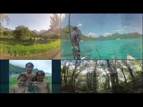 E.B. GO Tahiti 1-Minute Multi-View Moorea Video Showcase Seeing Coast, Fish, and Forest