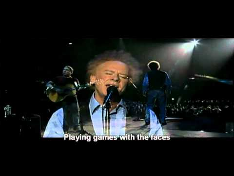 America with Lyrics - Simon & Garfunkel Old Friends Live On Stage 2004