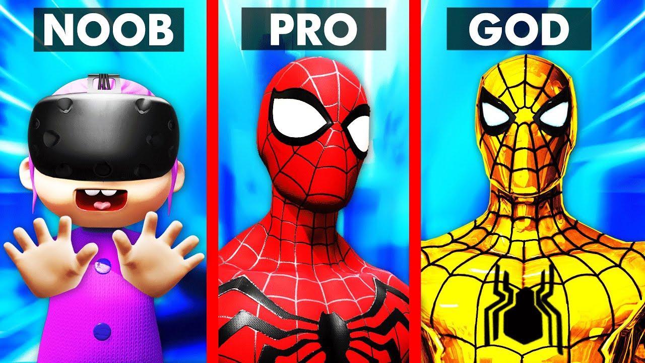 VR BABY Upgrades SPIDERMAN Into SPIDER GOD