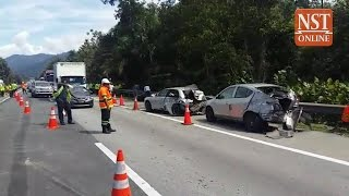 Ten kilometre jam hits PLUS highway near Tapah due to 12-vehicle pileup