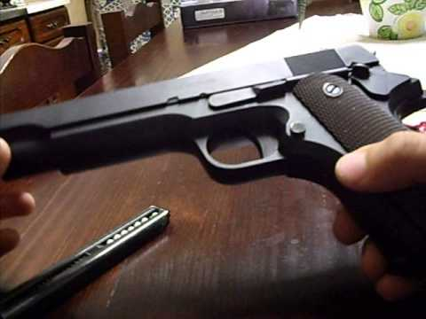 review colt 1911 airsoft electric gun youtube. Black Bedroom Furniture Sets. Home Design Ideas