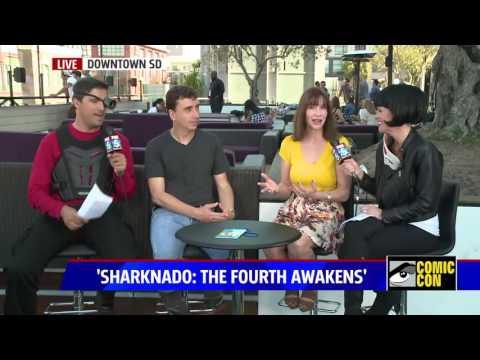"Director Anthony C Ferrante and Caroline Williams talk ""Sharknado 4"" on Fox5 at Comic Con 16'"