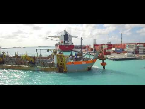 Dredging cruise-channel Port of Oranjestad Aruba | Baggerbed