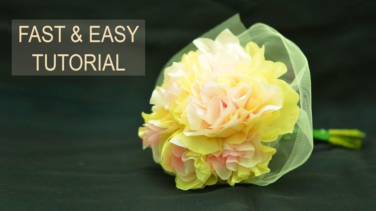 How to make tissue paper flowers easy unique tissue paper flowers how to make tissue paper flowers easy unique tissue paper flowers tutorial youtube mightylinksfo