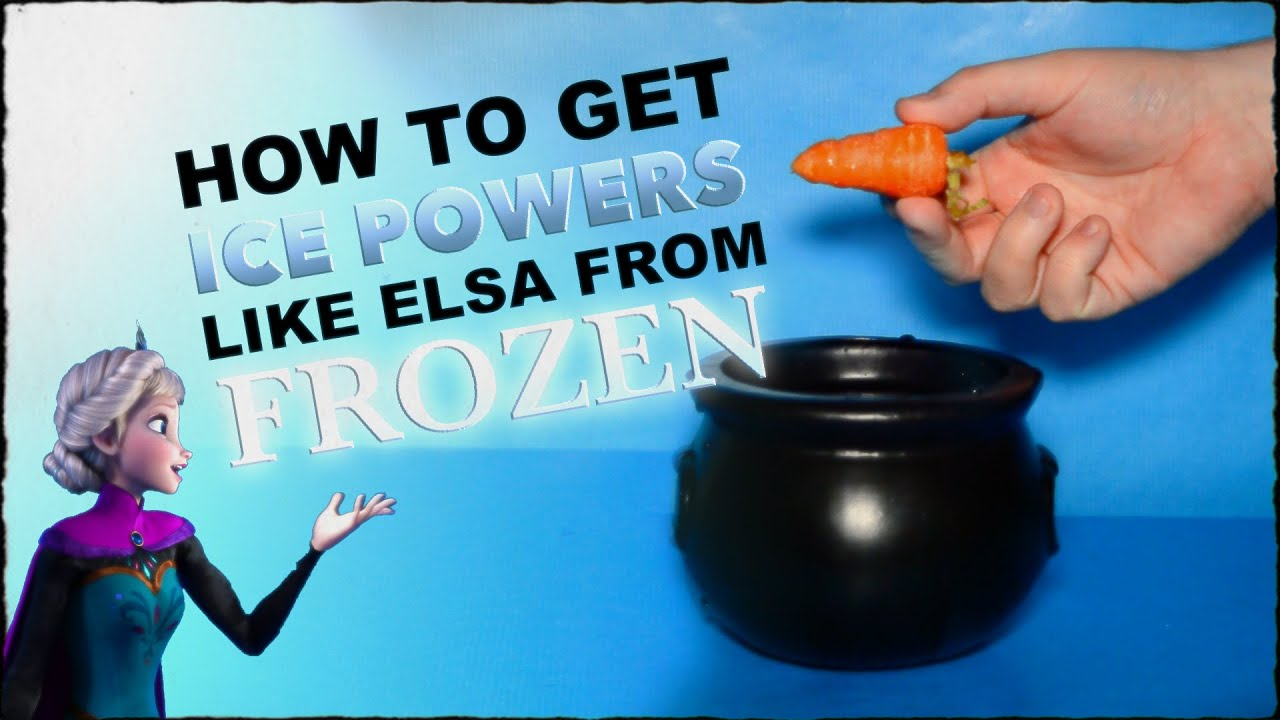 How To Make A Potion To Get Ice Powers Like Elsa From Frozen - YouTube