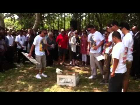 Doves Released At Boorman Memorial, May 20 2014