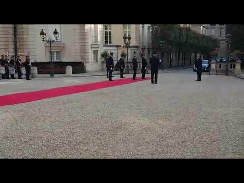 Egyptian President Abdel Fatah Al Sisi arrives to National assembly of France