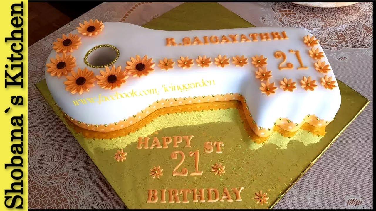 How To Make Key Cake 21 St Birthday Cake 21 Geburtstagstorte