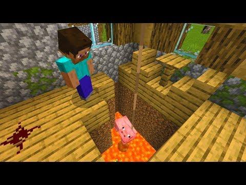 Hidden room found in Minecraft village.. (Terrifying)