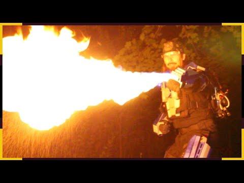 Real life 3d printed Iron Man armor Superhero suit, wrist flamethrower