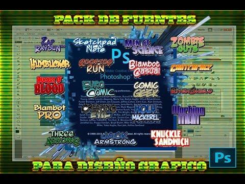 Descargar Pack de Fuentes para Diseño Grafico [Photoshop CC+Todas Las Versiones]