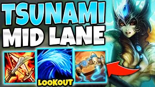 *TIDAL WAVE OF DEATH* FULL AP NAMI MID IS FREELO - League of Legends