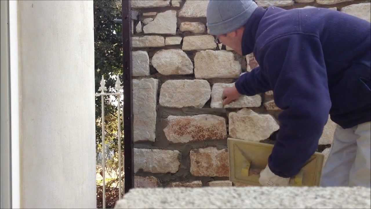 Comment jointer des murs en pierre youtube - Comment poser pierre de parement interieur sans joint ...