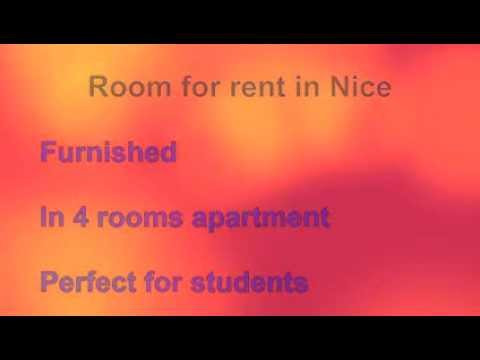 Room for rent in Nice, France. Flat sharing