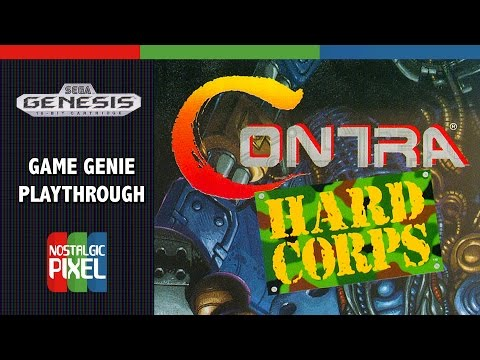 Contra Hard Corps Game Genie Playthrough