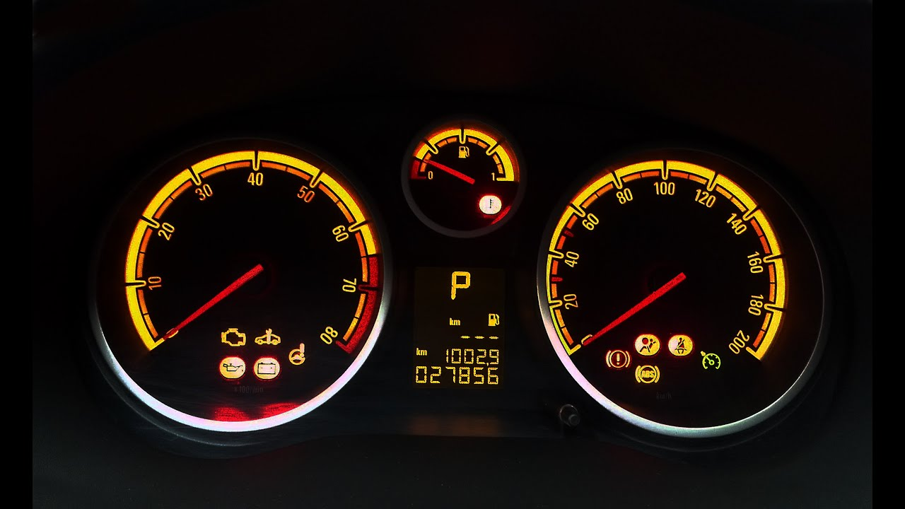 Opel Corsa ve Chevrolet Captiva göstergeleri - YouTube