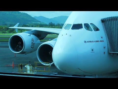Airbus A380-800 а/к Emirates | Рейс Маврикий - Дубай