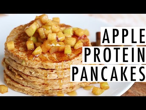 Healthy Apple Pancakes | High in Protein and Fiber