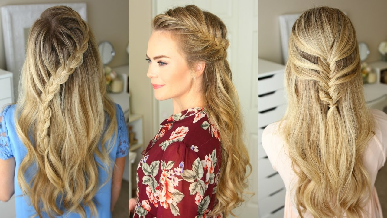 Hair Styles For Summer: 3 Fall Half Up Hairstyles