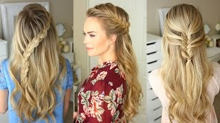 3 Fall Half Up Hairstyles | Missy Sue