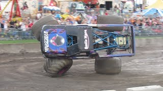 Overkill Evolution and Higher Education Monster Truck Freestyle at Altamont County Fair NY 2018