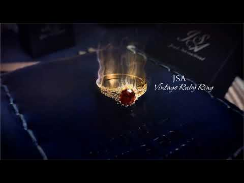 JSA Vintage Ruby Ring