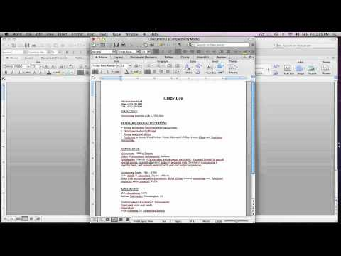 Learning How To Use A Resume Template In Word  Youtube