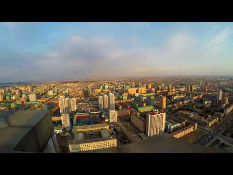 Juche Tower  wide views over Pyongyang North Korea with GoPro Karma Grip