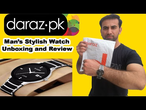Men's Stylish Watch Unboxing And Review   Online Shopping From Daraz Pk
