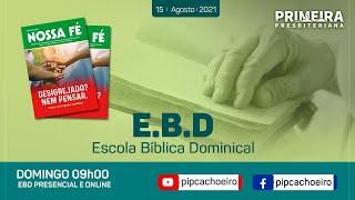 ✅Domingo 15/08 às 09h00 | Escola Bíblica Dominical Presencial
