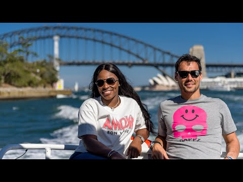 Sloane Stephens & Fabio Fognini: boat ride to a secret tennis court