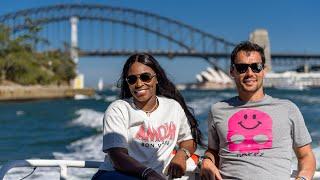 Sloane Stephens & Fabio Fognini: boat ride to a secret tennis court | Sydney International 2018