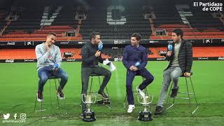 Entrevista a Rodrigo, Parejo y Marcelino en Mestalla | Partidazo COPE