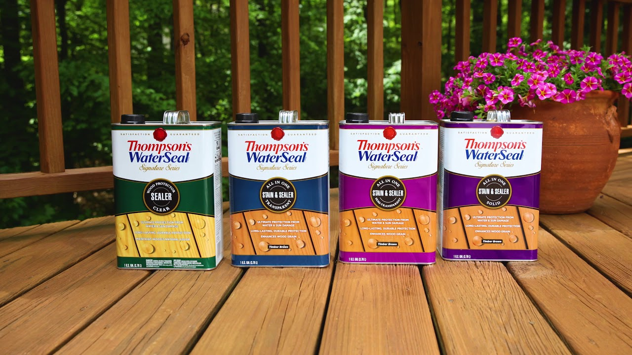 Stain Your Deck In Two Simple Steps Thompson S Waterseal Signature Series Sealer