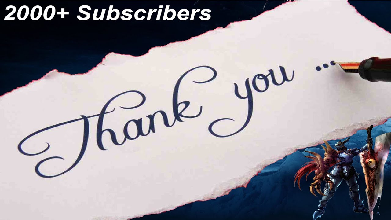 2000 subscribers special thank you all 6