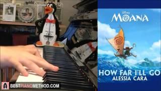 Moana How Far I'll Go Alessia Cara Piano Cover By Amosdoll