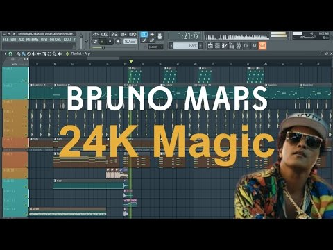 Bruno Mars - 24K Magic (FL Studio Remake/Instrumental)