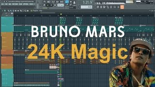 bruno mars 24k magic fl studio remakeinstrumental