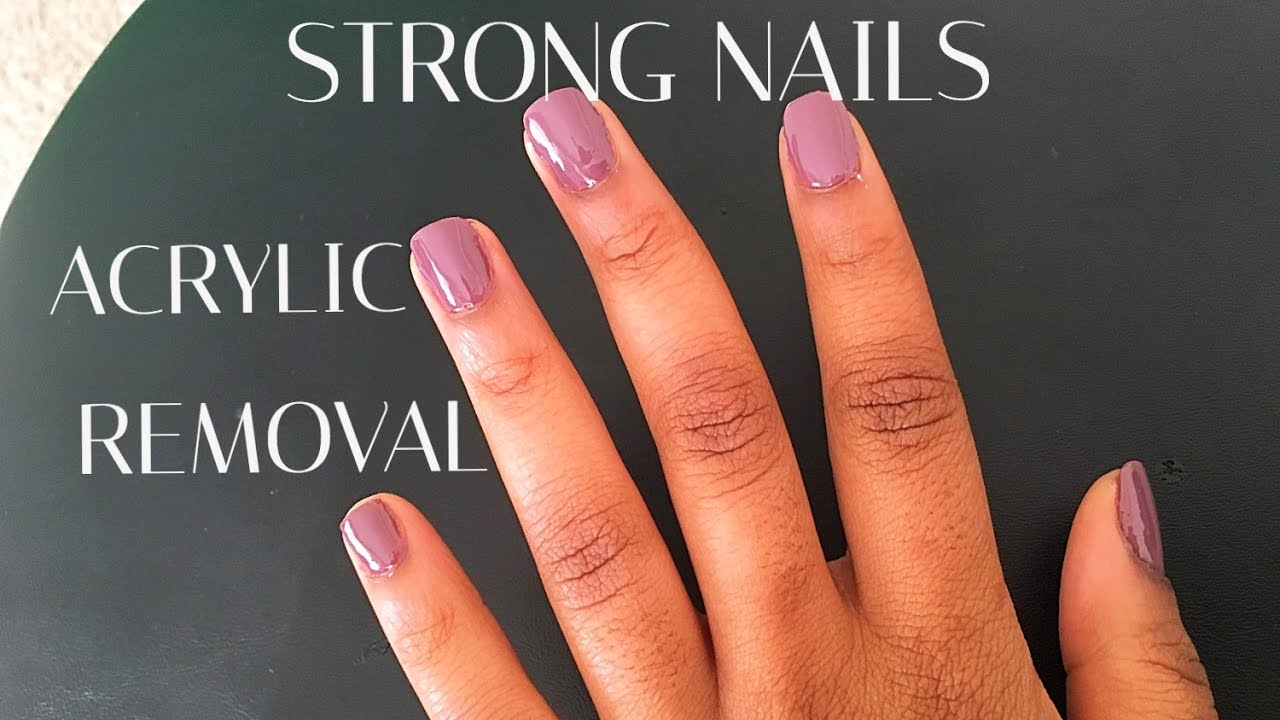 Nail care after acrylic nail removal (strong nails) - YouTube