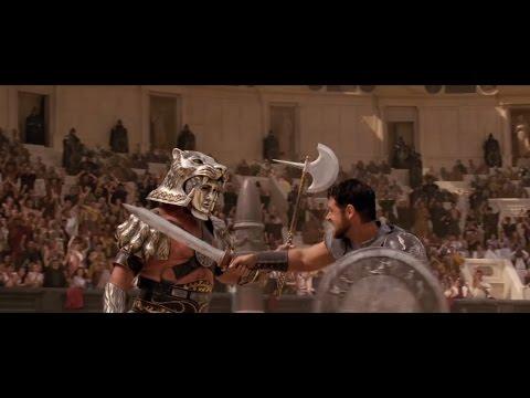 Lucha de gladiadores en el Coliseo de Roma