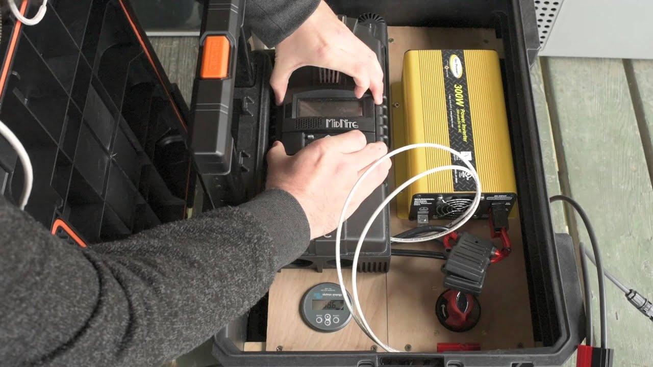 Portable Solar Generator Build Youtube Off Grid Panel Wiring Diagram