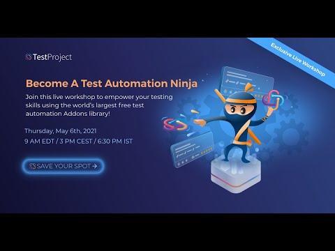 Test Automation Addons Ninja Workshop