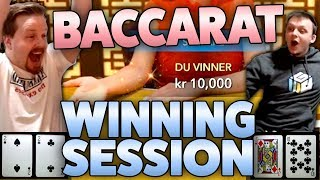 Baccarat - Lucky winning session