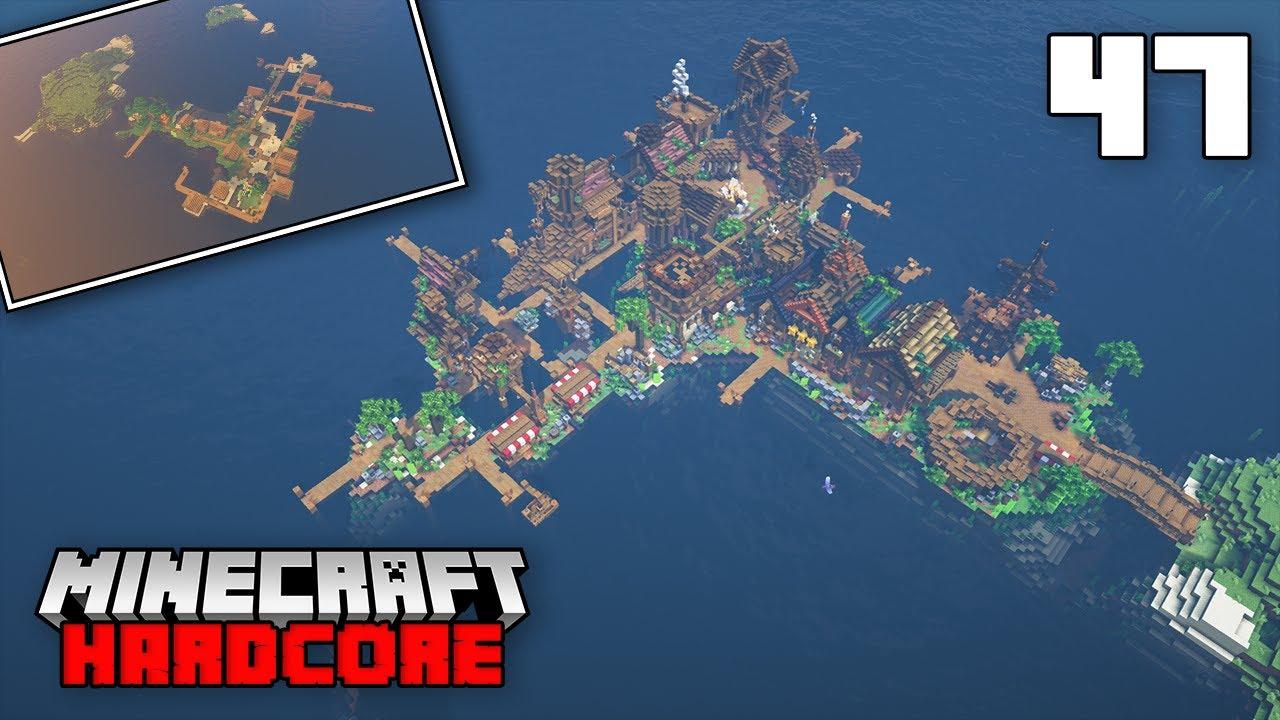 Minecraft Hardcore Let's Play - PIRATE ISLAND VILLAGE TRANSFORMATION COMPLETE!!!