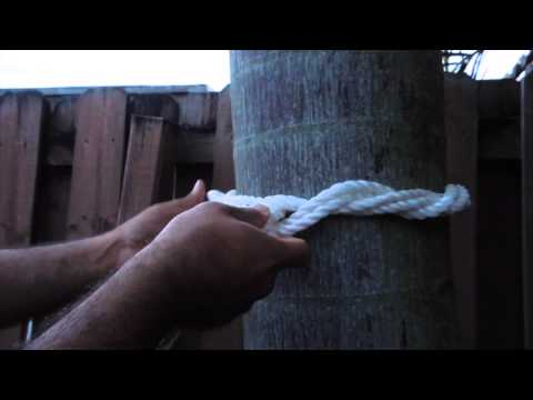 How To Tie Hammock To Tree Youtube