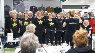 Stourbridge & Kidderminster Rock Choirs sing Fall At Your Feet at Merry Hill