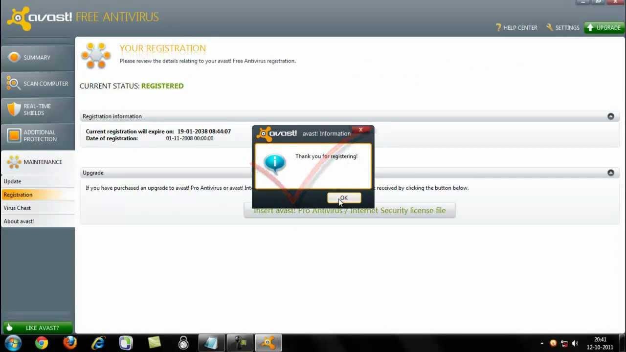Avast! 7 Free Antivirus License Key 2012 - YouTube