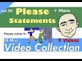 Please Statements + More - Video Collection | 29 | English for Communication - ESL
