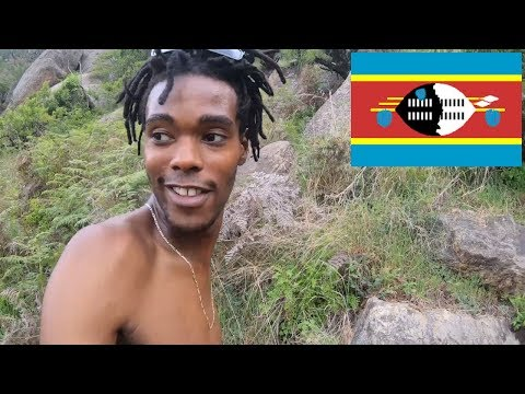 Hiking With no clothes in Swaziland With a European model